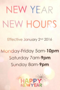 new year hours